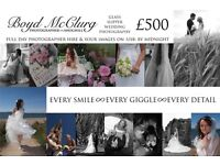 £500. Full Day Wedding Photographer Hire & Your Images To USB By Midnight. £500.