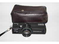 Keystone XR608 Film Camera Keytar Zoom Lens Analog Art Project With Black Case