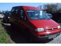 Fiat Scudo JTD SWB mobility van 2002-02-reg, 1997cc turbo diesel,new mot on purchase,