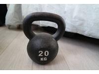 20kg Black iron kettlebell