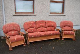 Vintage sofa complete suite 3 1 1 suite in excellent condition *** FREE ***