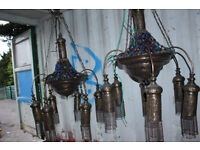 2 x Large Moroccan Turkish or Egyptian Chandeliers from a restaurant