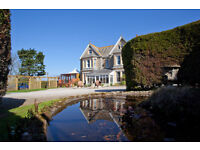 Kitchen assistant for busy coastal hotel