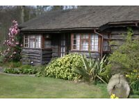 secluded 1 bedroom cottage to rent in 20 acre private gardens