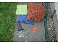 football net , bag, pegs, clips,corner flag bag