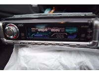 JVC CAR CD RADIO PLAYER FLIP DOWN COLOURED PICTURES IN SCREEN/WIRES