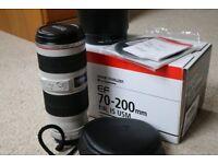 Canon EF 70-200 mm f/4.0 L USM Lens - Mint Condition