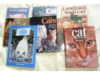Job lot of eight cat hardback books.Excellent condition as seen.