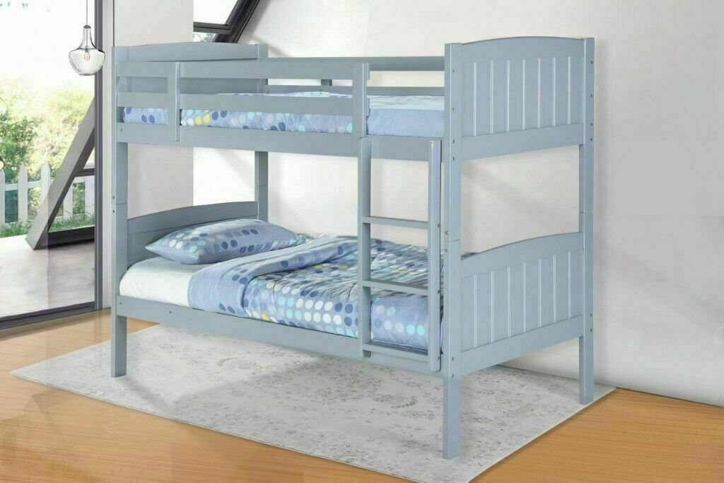 Limited Time Offer New Solid Wooden Bunk Bed In White Grey Color Optional Mattresses Range In Acton London Gumtree
