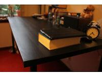 Big Black-Brown Wood Desk/Tabletop with Legs - IKEA LINNMON