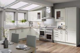 7 Piece Kitchen Units - Matt Cream Shaker - BRAND NEW