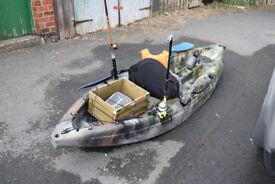 Galaxy Cruz single seat kayak - fishing set up