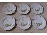 """1950's Japanese Lithopane """"Simple"""" Geisha Lucky 21 Piece Tea Set"""