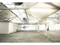 Large warehouse for hire for film and photo shooting in South East London / Camberwell SE5
