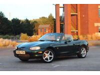 British racing green Mazda MX5 with full 12 months MOT
