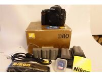 Nikon D80 10.2 MP Digital-SLR Accesories included BOXED - 22,000 SHUTTER COUNT