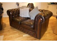 Leather Chesterfield Sofa - High Quality, in good condition