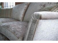 Duresta Ruskin suite 210cm sofa and 180cm sofa with footstool - J Brown Modena Velvet - Washable