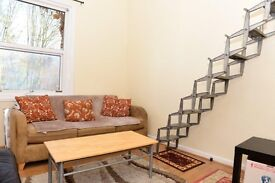 Large mezzanine studio flat in Cricklewood.