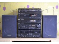 TECHNICS AMP CD TUNER TAPE TURNTABLE SPEAKERS HIFI STEREO RECORD PLAYER