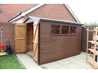 Wooden Garden Shed 8ft x 10ft, good condition (disassembled), pick up only
