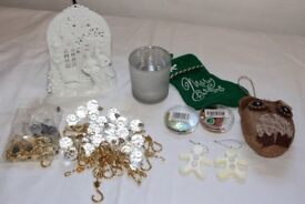Christmas Decorations / Candles Holders etc. in White