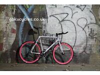 Special Offer GOKU CYCLES Steel Frame Single speed road bike TRACK bike fixed gear fixie bike 14
