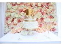 Wedding Cake Backdrop Hire, Wedding Photo Flowerwall Backdrop Hire, DIY Photo booth Backdrop Hire,