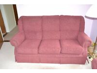 Absolute bargain Three piece suite: Three seater sofa, two seater sofa and armchair recliner