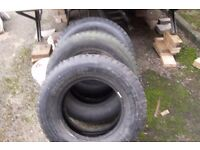 3 tyres will fit a 4x4 or simlar