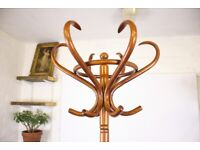 Vintage Bentwood Hat And Coat Stand Retro Mid Century Wooden Furniture