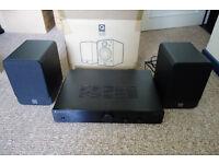 Q Acoustics Speakers and Cambridge Audio Amplifier Combo