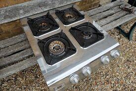 4 ring gas burner, stainless steel