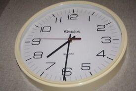 An elegant vintage Westclox wall clock