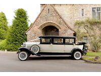 Wedding car, Bramwith Landaulette vintage style vehicle