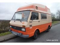 VW LT28 MK1 Camper Campervan Retro VW Orange