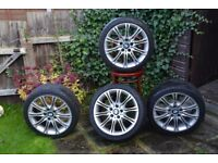 Genuine-BMW-MV2-Staggered 18 Alloy-Wheels-With-Tyres