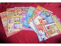Cross Stitcher Embroidery Pattern Cross Stitch Sewing Magazines/Books, 10 BOOKS, Histon