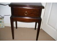 Stag side table with drawer