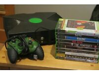 Xbox Original Console bundle. W/ 10 great games.