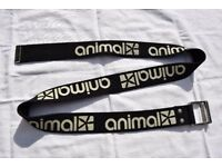 Animal Men's or Ladies Black Surfy Material Belt 35""