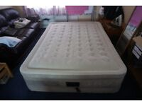 King sized airbed with built in pump