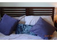 Double Bed 4ft 6 Solid wood frame (Furniture village)