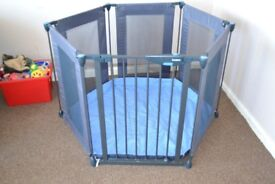 Lindam Safe Metal and Fabric Baby Playpen
