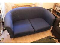 Small Ikea 2 seater sofa, Navy blue