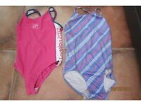 NEXT Age 15-16 yrs - Pink & White & Speedo size 12 Lilac/blue mix Swimsuits. Both great conditio