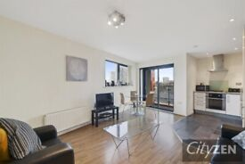2 double bed 2 bath furnished flat, balcony looking over park, near canal, walk to DLR & shops