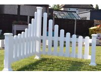 White corner picket fence/Feature
