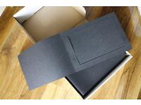 box of 50 landscape 12x8 quality fold over mounts - spicer hallfield advanta
