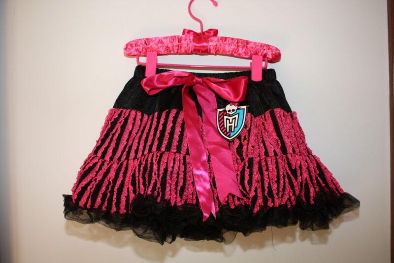 MONSTER HIGH DRACULAURA PINK  DRESS UP PETTI SKIRT COSTUME NWT NEW